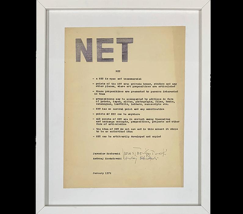 Jarosław Kozłowski Manifest NET mail art